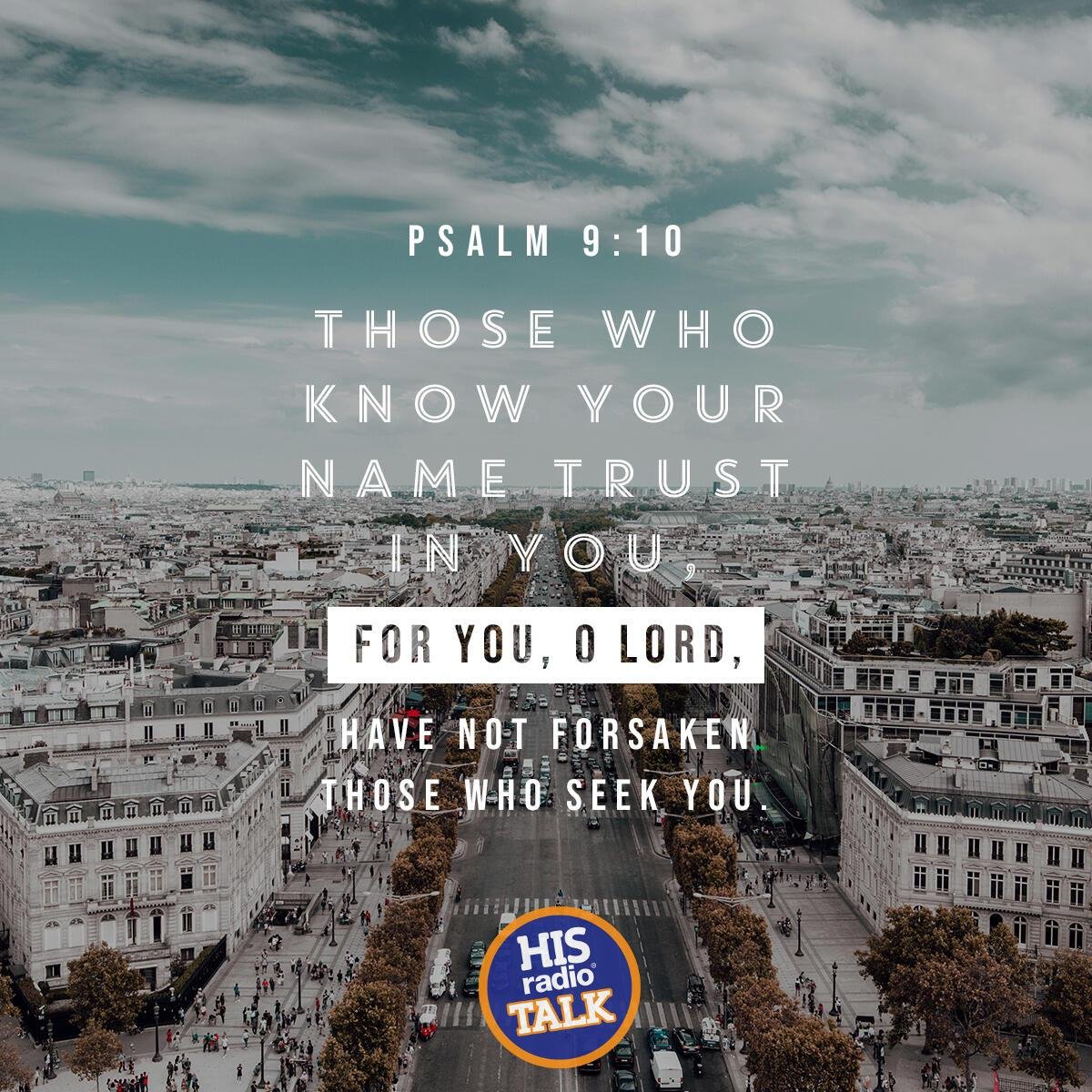 Psalm 9:10 - Verse of the Day